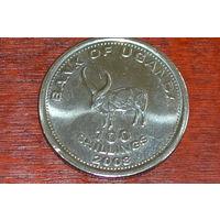 Уганда 100 шиллингов 2008
