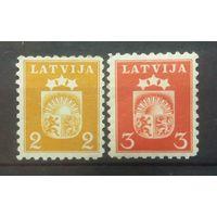 Латвия герб страны 1940 2 марочки