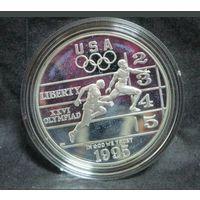 США 1 доллар 1995 P. Олимпиада в Атланте. Бег.