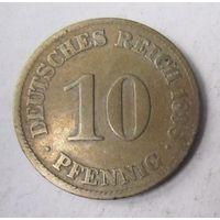 Германия. 10 пфеннигов 1898 J.  2-111