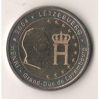 2 евро Люксембург 2004 (Монограмма Великого Герцога Люксембурга Анри)