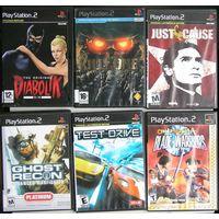 Игры ( 6 шт. ) для  Sony PlayStation 2  б/у набор 5