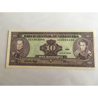 Венесуэла 10 боливар 1995 год