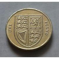 1 фунт, Великобритания 2010 г.