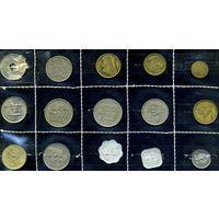 Египет, комплект из 15 монет