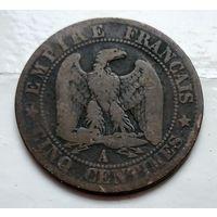 Франция 5 сантимов, 1854 A - Париж 2-6-1