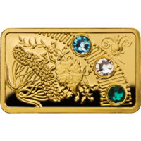 """Ниуэ 5 долларов 2013г. """"Волшебный календарь счастья: Весна"""". Монета в капсуле; сертификат. ЗОЛОТО 5гр."""