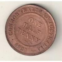 Австралия 1/2 пенни 1921