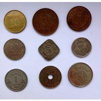 9 разных  монет мира  -2