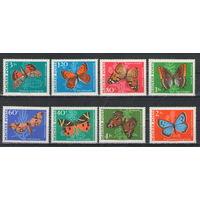Венгрия Бабочки 1969 год чистая полная серия из 8-ми марок