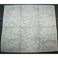 Оригинальная карта территорий: Мозырь-Петриков-Паричи-Хойники 1874г.г.
