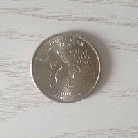 Монета 25 центов США
