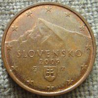 2 евроцента 2009 Словакия