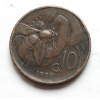 Италия 10 чентезимо, 1920 2-11-3