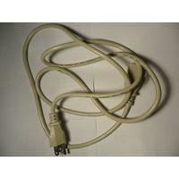 Шнур питания  ~110 В с заземлением (США), длина 180 см.
