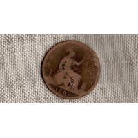 Великобритания 1 пенни 1862 //(JJ)