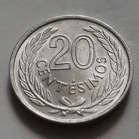 20 сентесимо, Уругвай 1965 г., AU