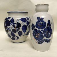 Две милые вазочки кобальт.