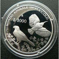 Сан-Марино. 1000 лир 1993. Серебро. Пруф. 103