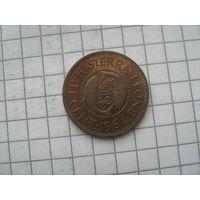 Сьерра Леоне 1/2 цента 1964г.