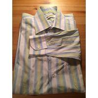 Рубашка мужская 39/176, яркая и стильная расцветка, длинный рукав. Замеры: длина 74 см, длина рукава 61 см, ПОгруди 53 см. Отличное состояние.