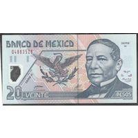 Мексика 20 песо 2001 г. Пластик  UNC.