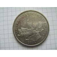 Британские виргинские острова 1 доллар 2002г.