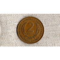 Восточные Карибские острова /карибы/ 2 цента 1965 //(ON)