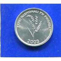 Руанда 1 франк 2003 UNC