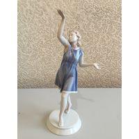 Статуэтка фарфороваяТанцовщица (Балерина, Девушка, Арт-деко), Розенталь