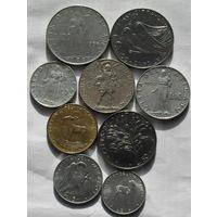 Ватикан, Лот из 9 разных монет 1934-1977 (12)