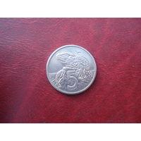 5 центов 1985 год Новая Зеландия