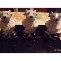 3 фарфоровых мышонка