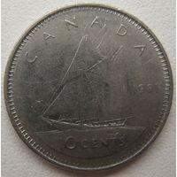 Канада 10 центов 1981 г.