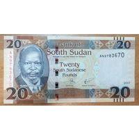 20 фунтов 2017 года - Южный Судан - UNC