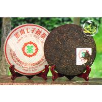 Настоящий китайский Пуэр черный ( шу ) в плитке, 2004г.