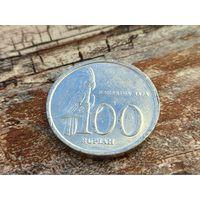 Индонезия. 100 рупий 1999. (2).