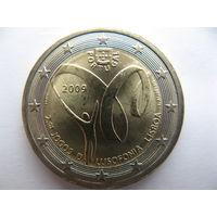 Португалия 2 евро 2009 г. Португалоязычные игры 2009. (юбилейная) UNC!