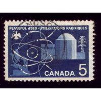 1 марка 1966 год Канада Атомная энергетика 393