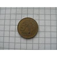 Гвинея 5 франков 1985г.