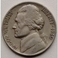 США 5 цент 1940