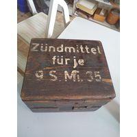 Деревянный ящик для боеприпасов(детонаторов). Вермахт.