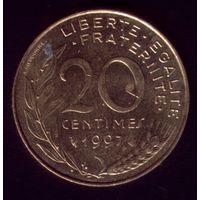20 сантимов 1997 год Франция