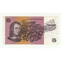Австралия 5 долларов образца 1973 года. Тип p44g. Нечастая!