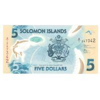 Соломоновы острова 5 долларов 2019 года. Состояние UNC!
