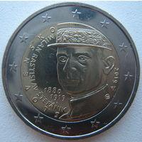 Словакия 2 евро 2019 г. 100 лет со дня смерти Милана Растислава Штефаника