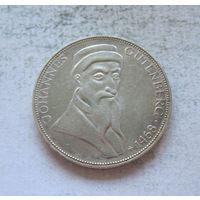 Германия 5 марок 1968 500 лет со дня смерти Иоганна Гутенберга