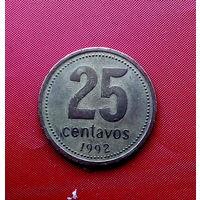 91-26 Аргентина, 25 сентаво 1992 г.