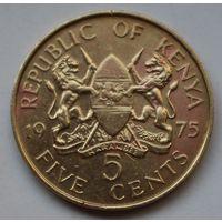 Кения, 5 центов 1975 г.
