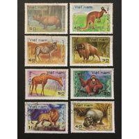 Дикие животные. Вьетнам,1981, серия 8 марок